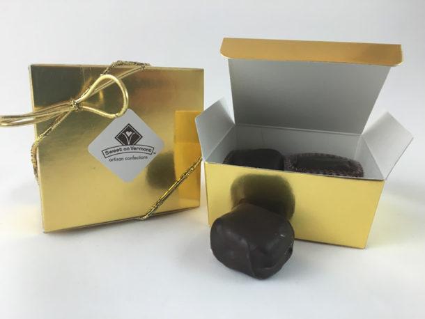 4pc Favor Box / Gourmet Artisan Christmas Chocolate Confections