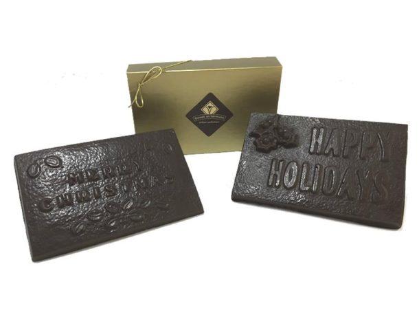Christmas Chocolate Bar / Gourmet Artisan Christmas Chocolate Confections