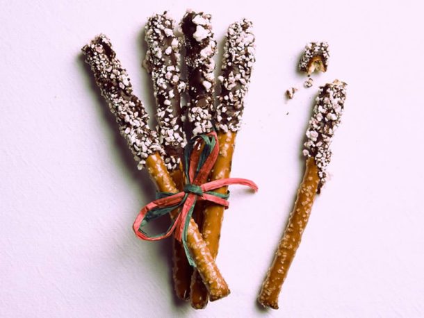 Chocolate Peppermint Pretzels / Gourmet Artisan Christmas Chocolate Confections / Gourmet Artisan Holiday Chocolates Confections