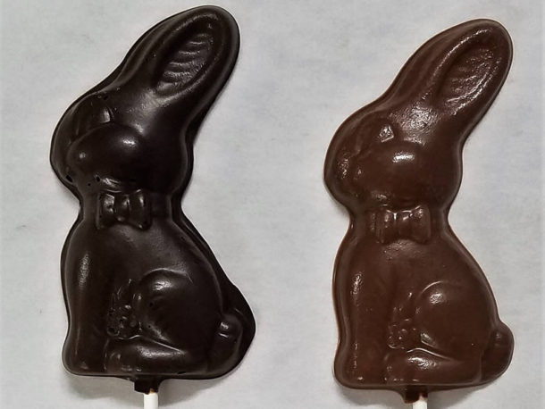 Easter Chocolate Lollipops – Bunnies