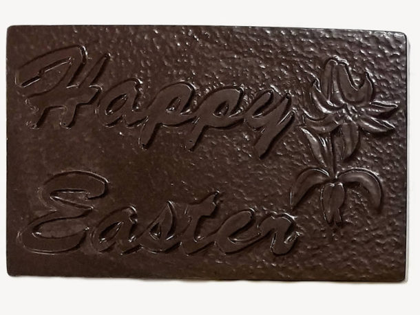 Happy Easter Chocolate Bar - Dark Chocolate